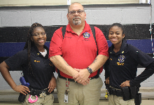 Criminal Justice instructor and students