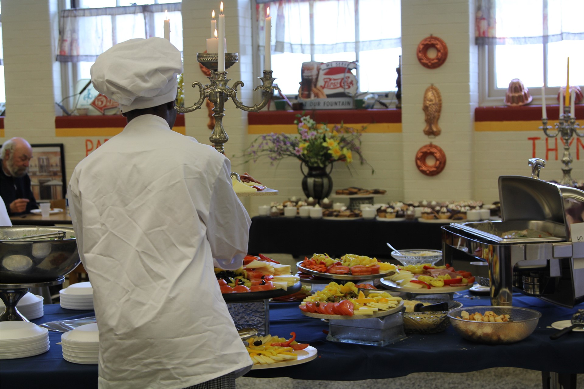 Euclid Culinary Bistro sets up their annual buffet