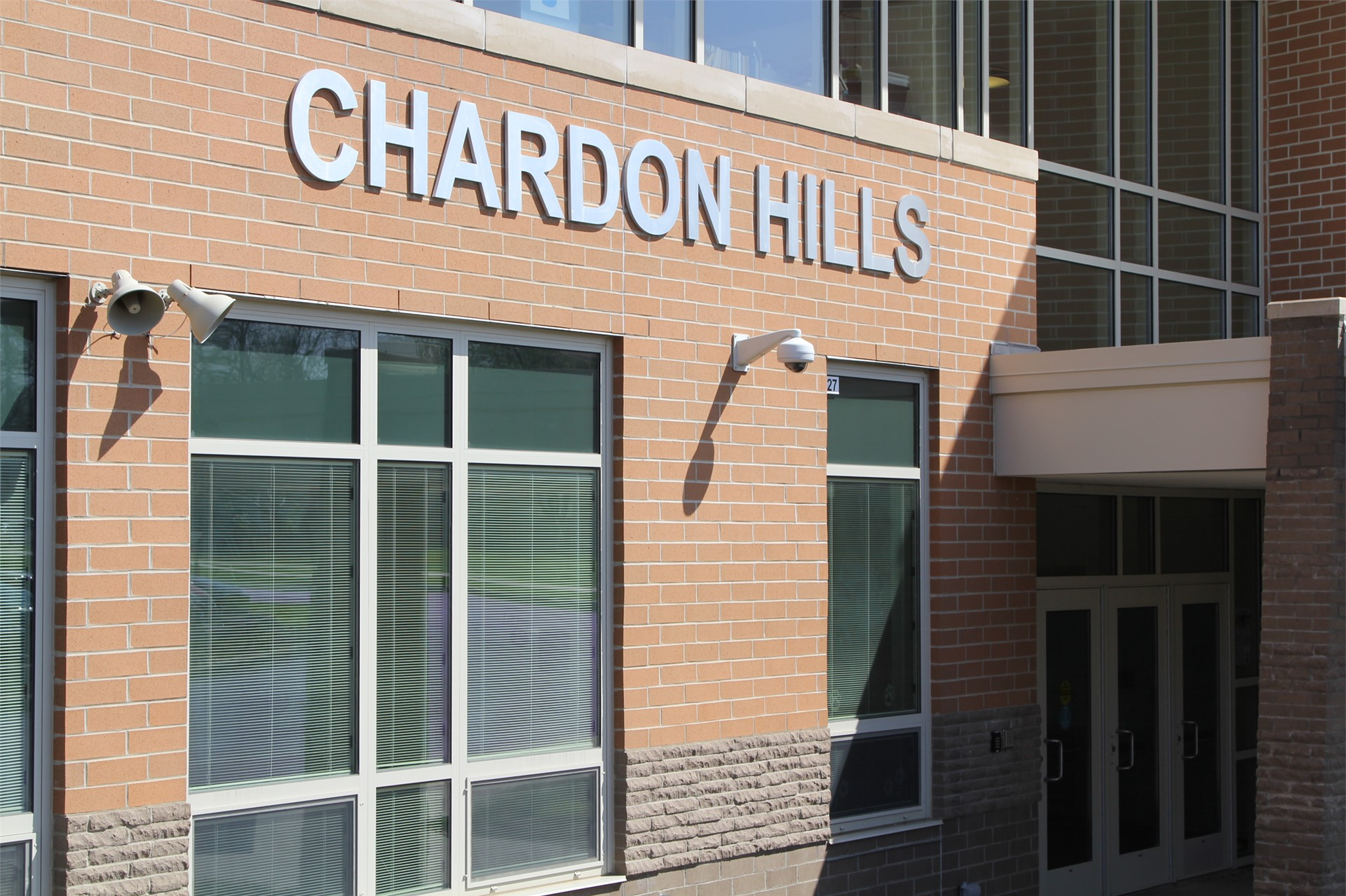 Chardon Hills building entrance