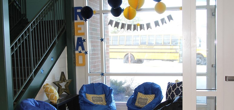 Arbor Elementary School's reading nook