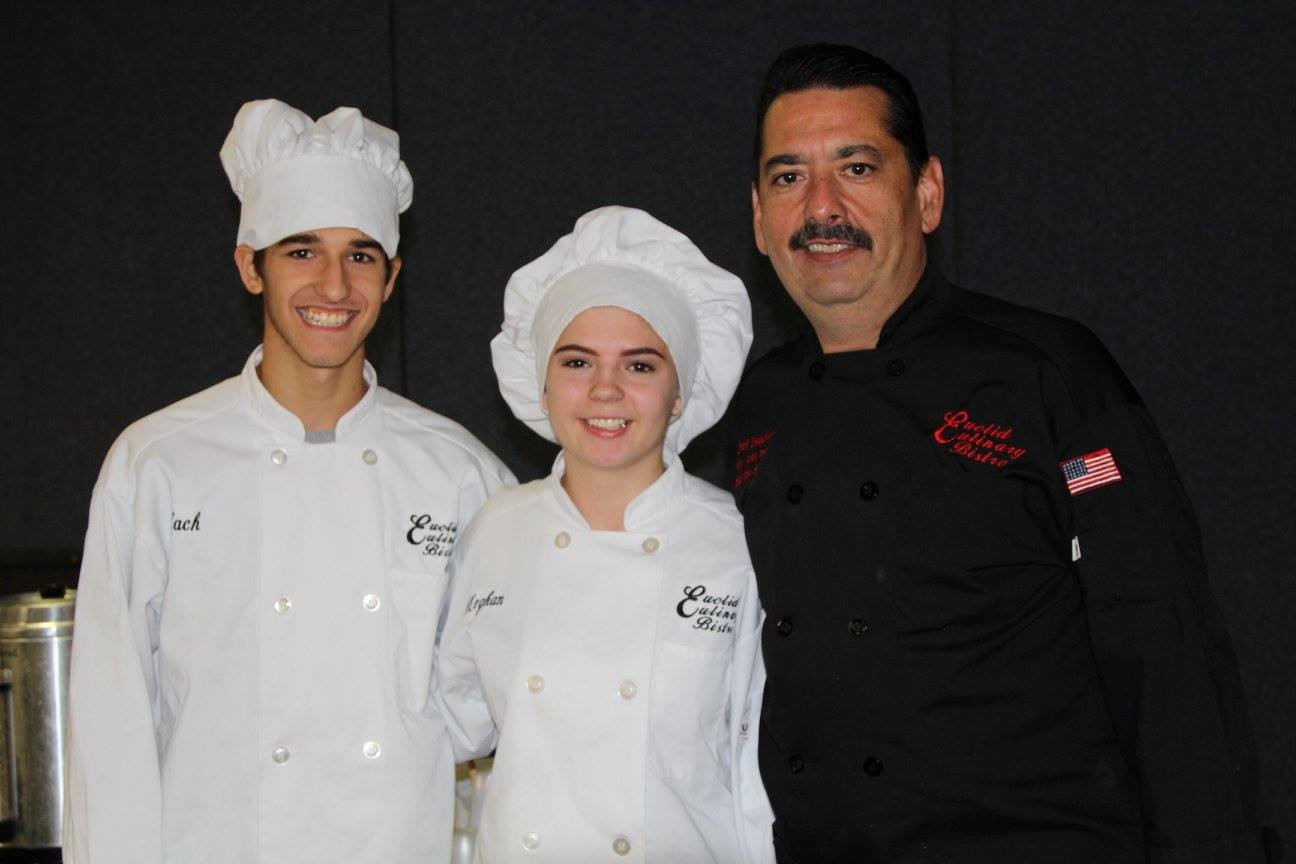 Chef Dan and Euclid Culinary Bistro Students