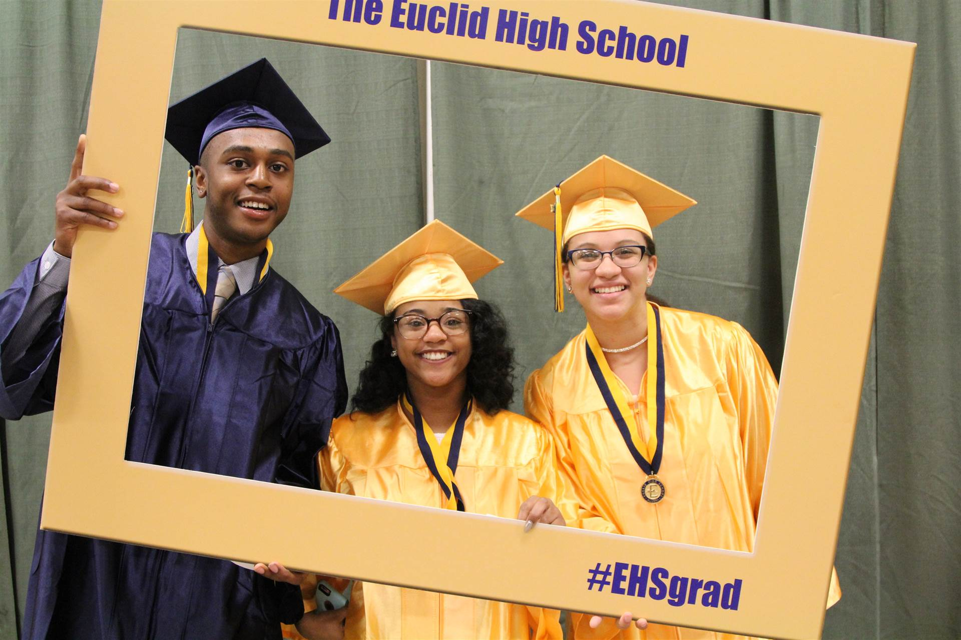 EHS Graduates after Graduation Ceremony