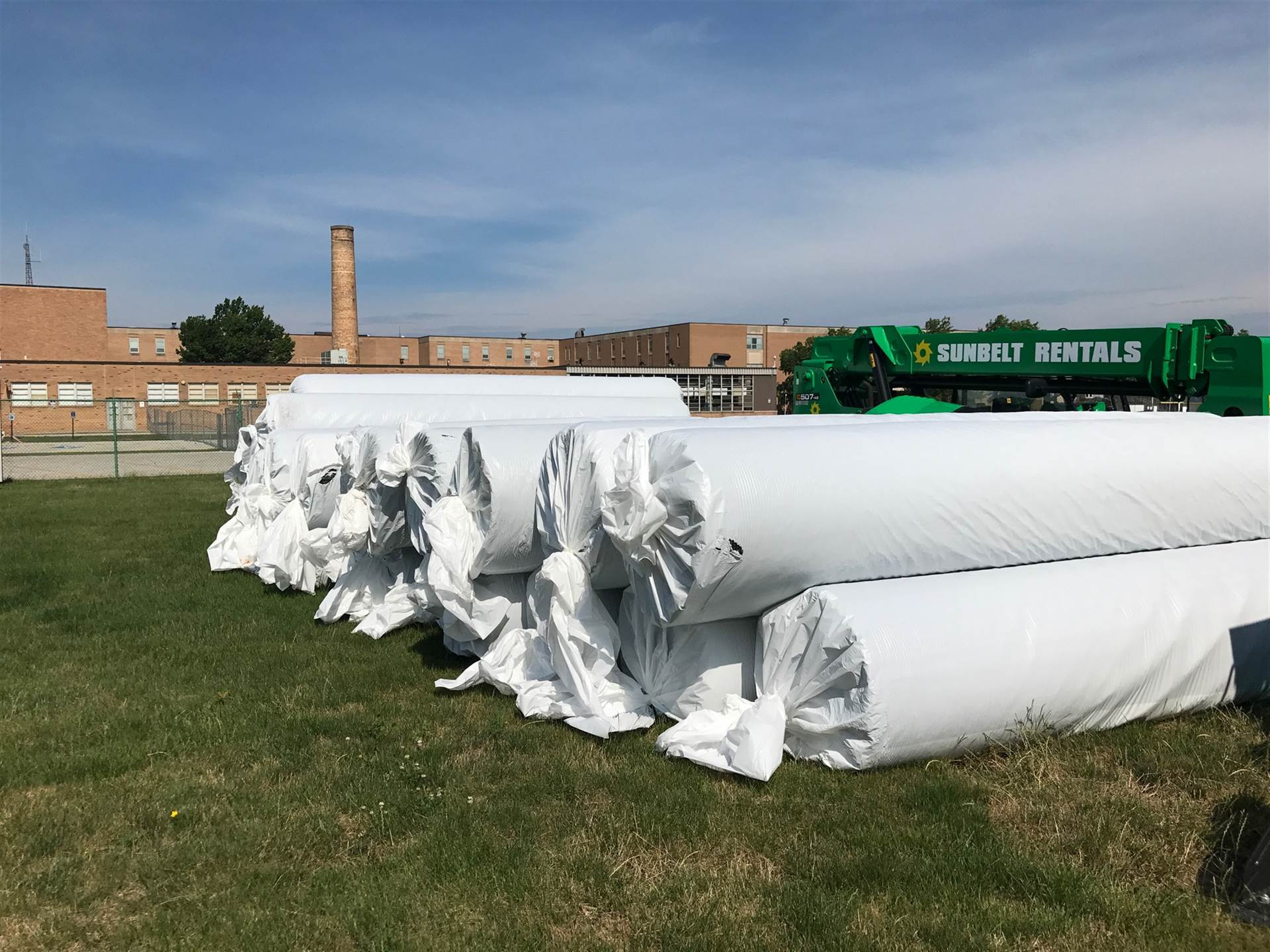 Field turf for the middle school field (July 20, 2017)