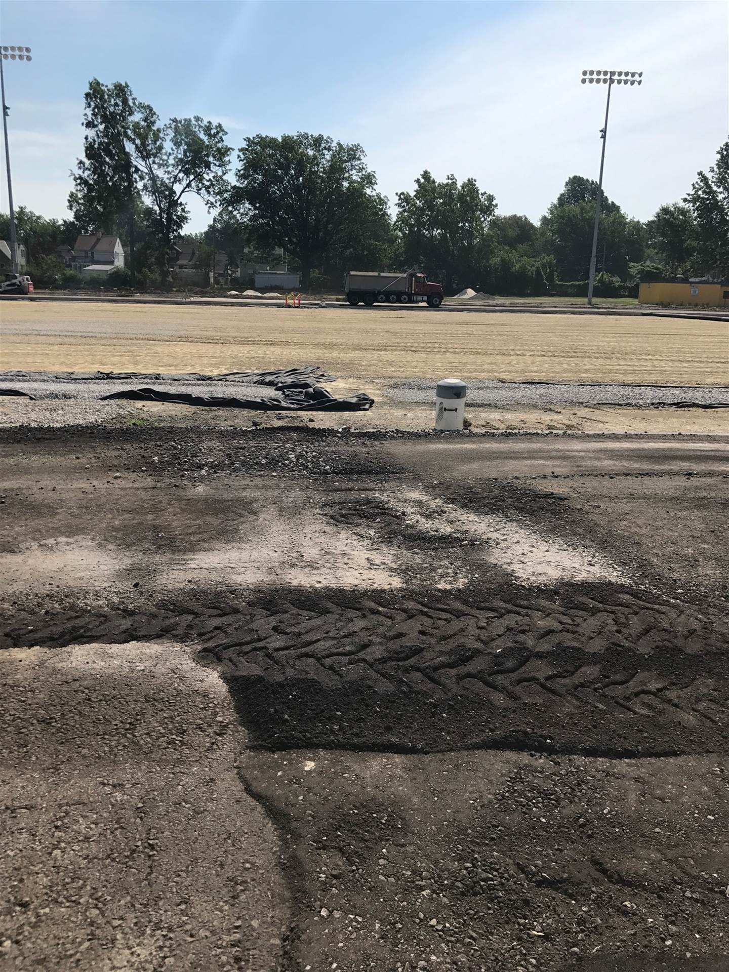 DiBiasio Field renovation progress (July 20, 2017)
