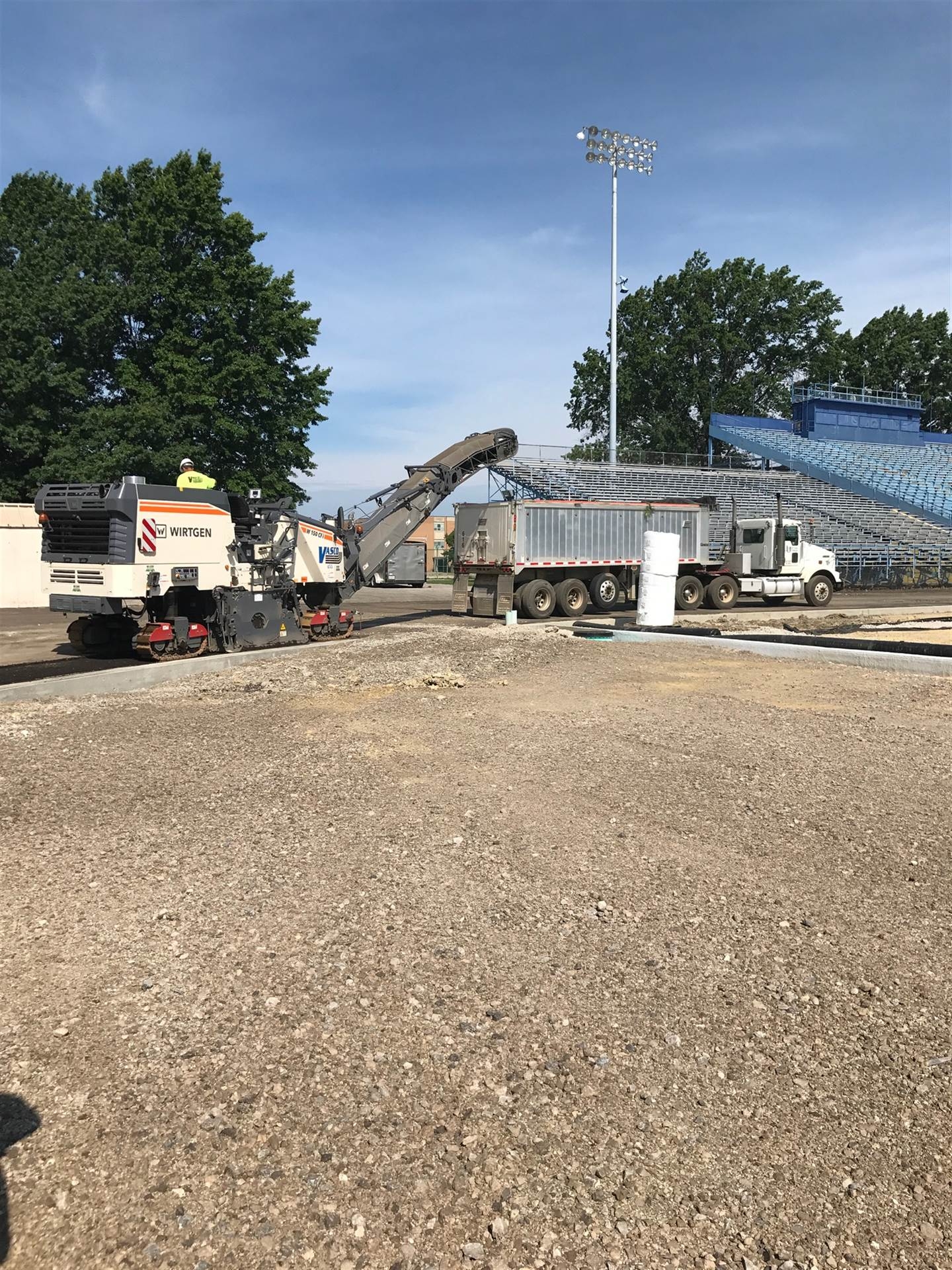 DiBiasio track renovation progress (July 20, 2017)