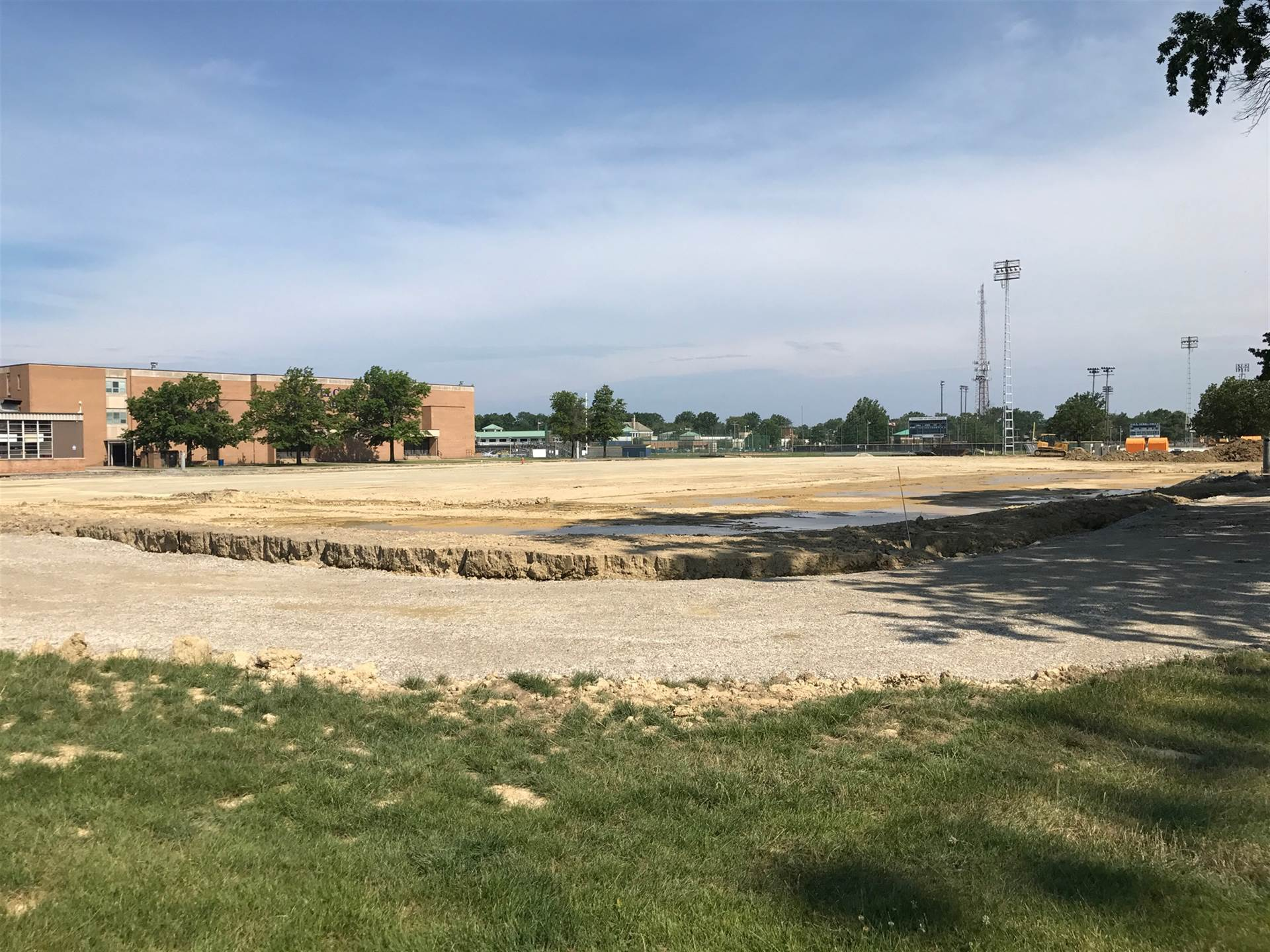 New stadium progress behind EHS (July 20, 2017)