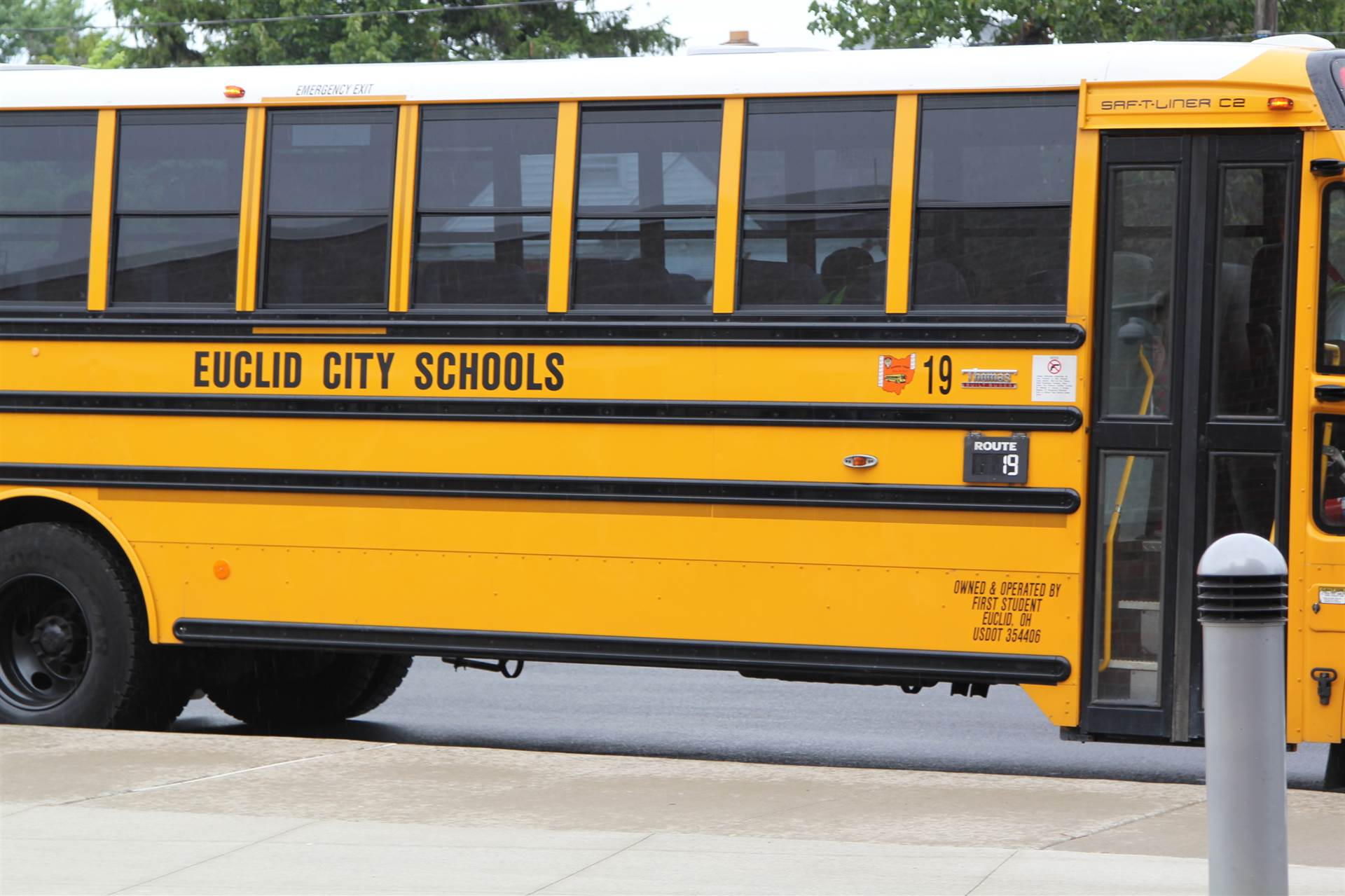 Euclid City Schools School Bus number 19