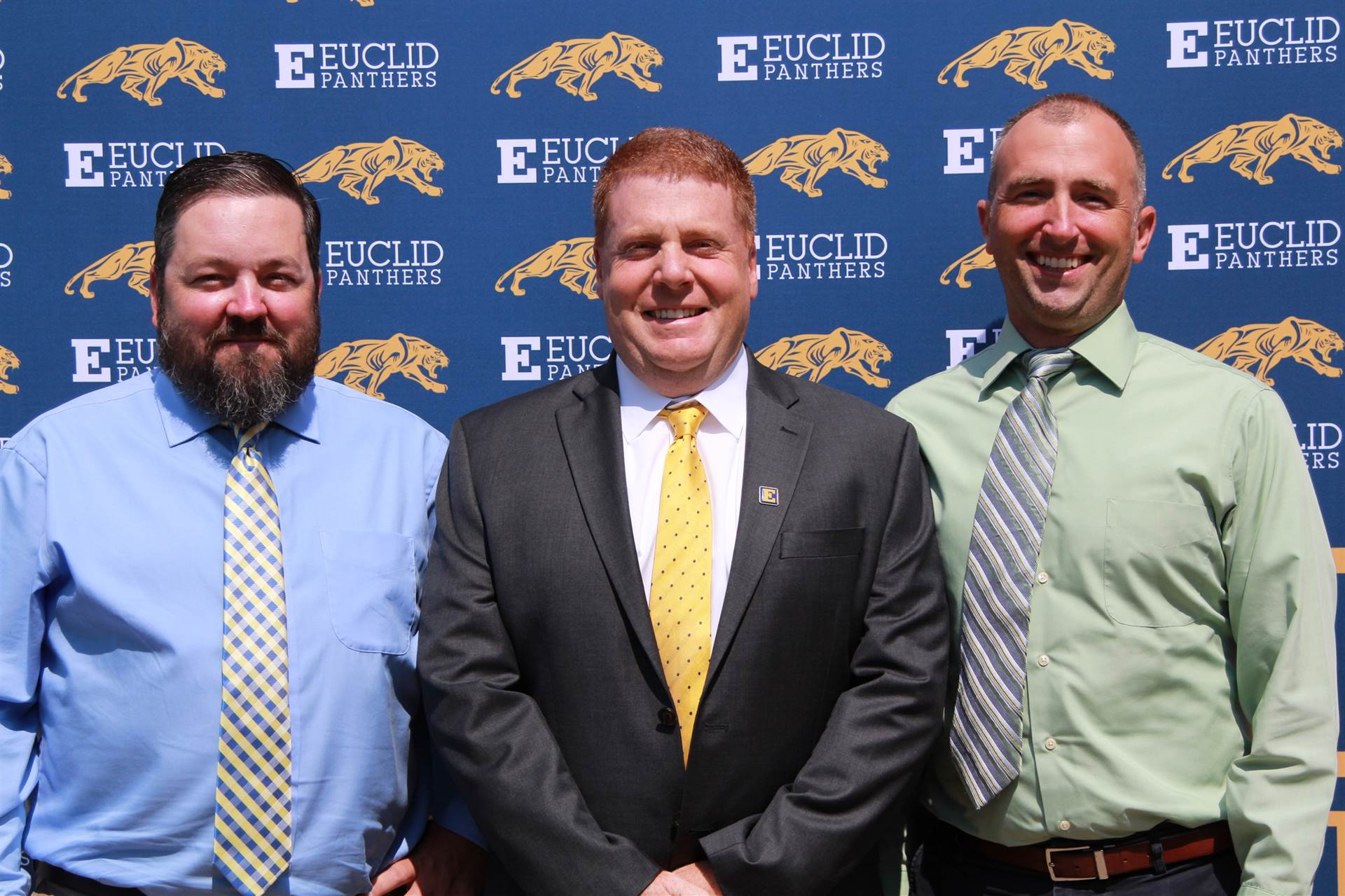 Euclid Middle School Principals, Mr. Coleman, Mr. Mennel, and Mr. Castrilla