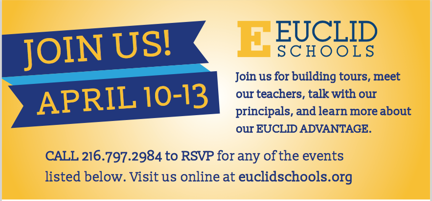 Euclid Advantage Week will be April 10-13