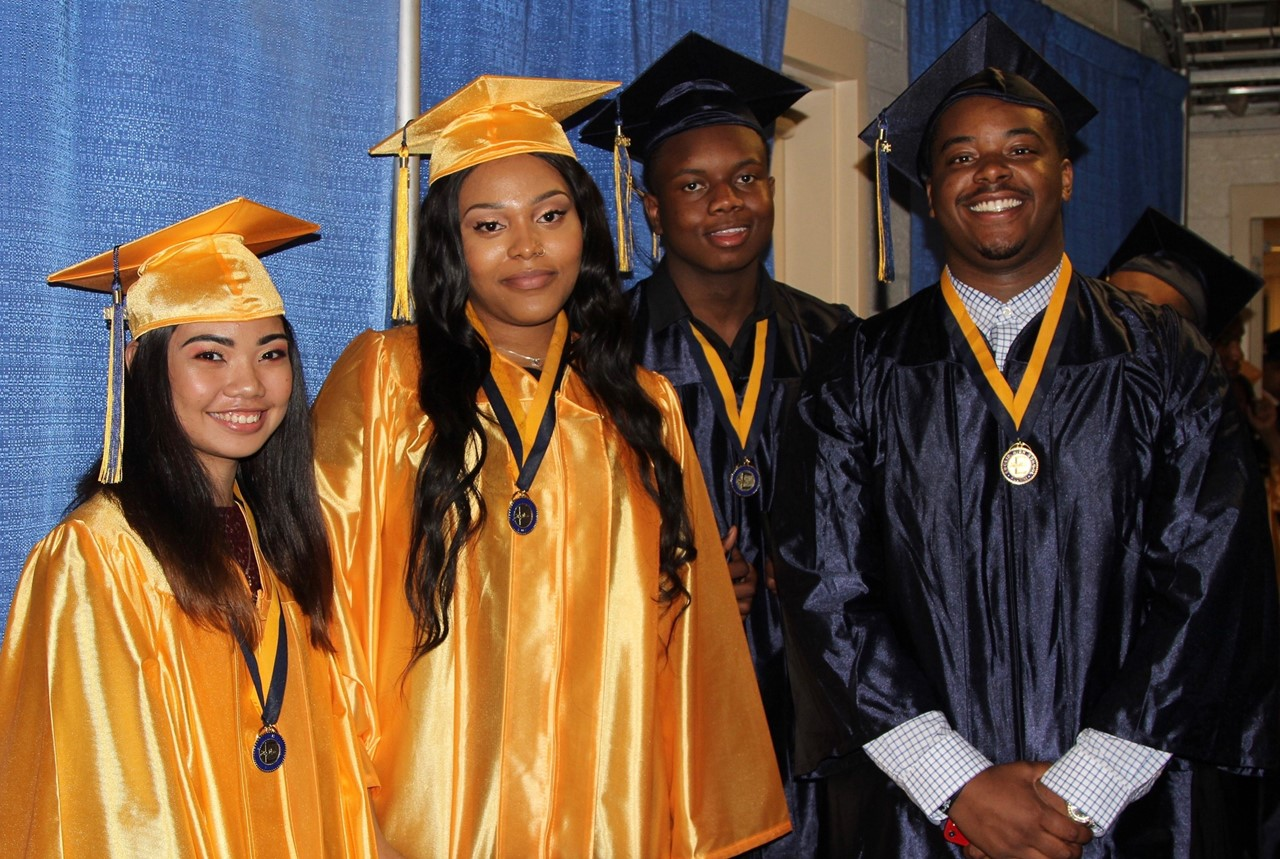 Euclid high school seniors at graduation on May 22, 2018