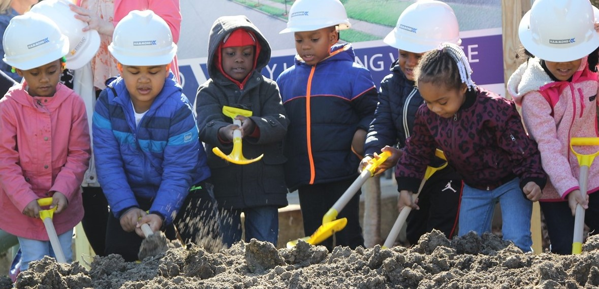 ELC kids breaking ground at new ELV