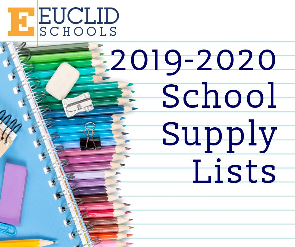 School supply lists 19-20