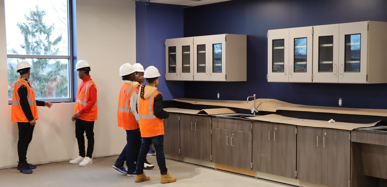 tour of new middle school