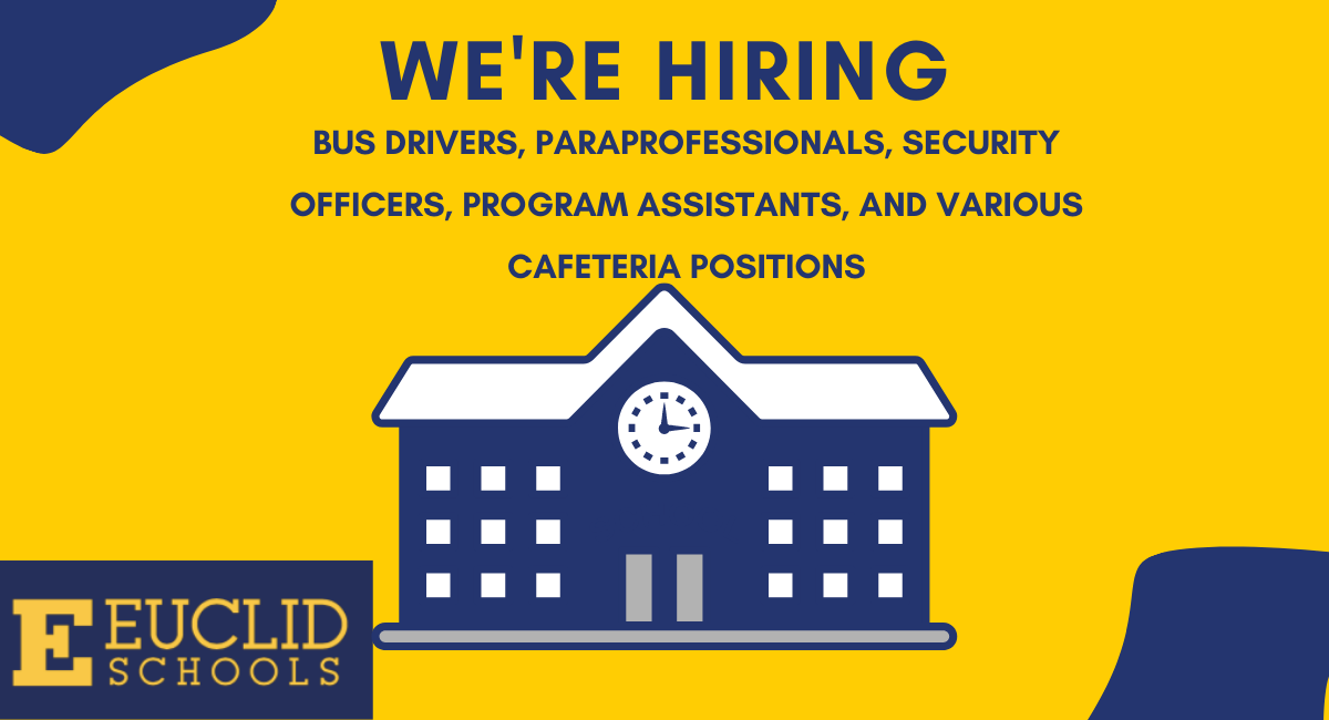 We're Hiring Bus Drivers, Paraprofessionals, Security Officers, Program Assistants, and Various Cafeteria Positions