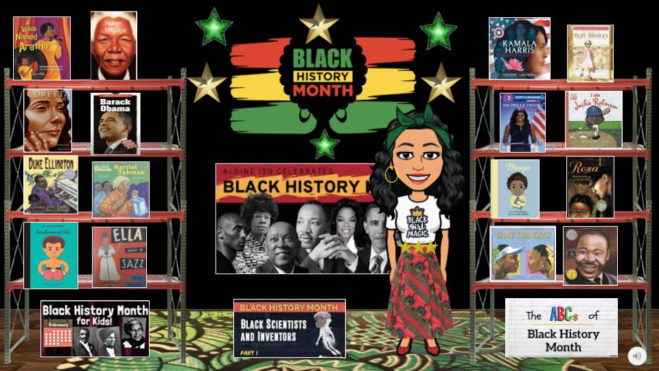 Multiple BHM book display w/ bitmoji