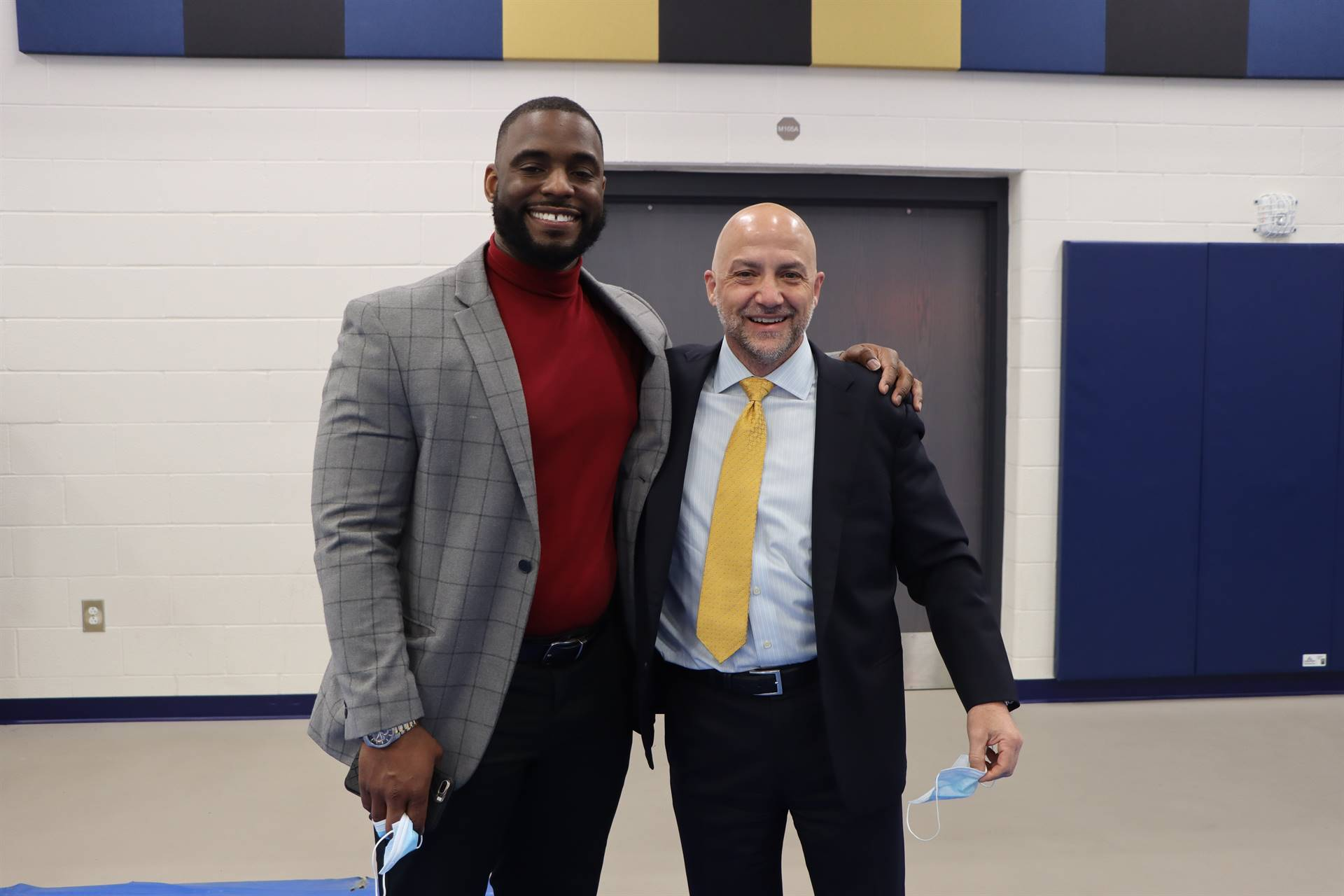 Superintendent and HS principal