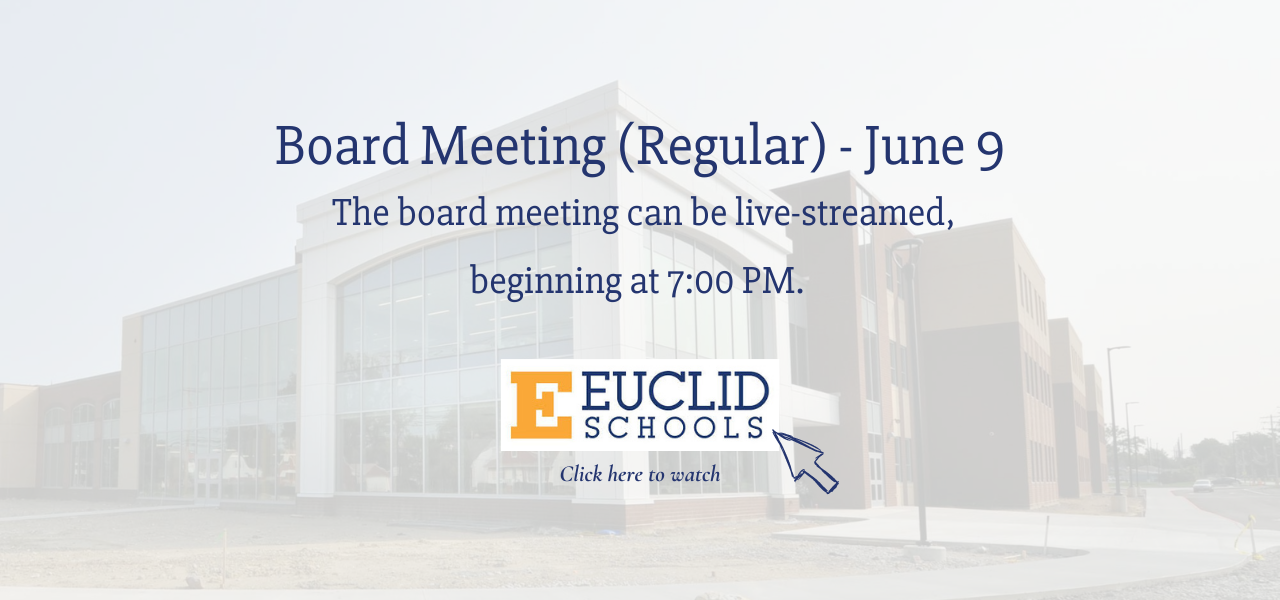 Board Meeting live stream access with gold E logo