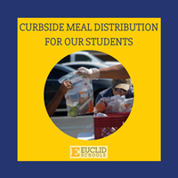 Curbside meal distribution for our students